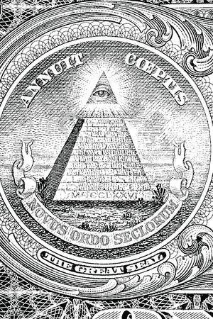 paranoia: Il Gran Sigillo degli Stati Uniti dal retro di un dollaro fattura