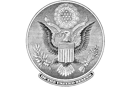 one dollar bill: Gravure Great Seal from the back of a one dollar bill Illustration