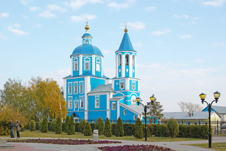 mention: Tambov, Russia - October 11, 2014:  Church of the Intercession of the Mother of God in the city of Tambov. The first mention of the temple relate to 1658.  Quality of medium format