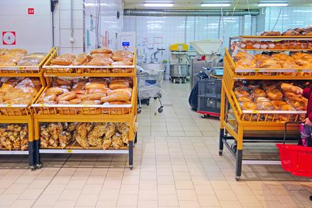 bread shop: Pane negozio moderno e attrezzature per la pasticceria da forno