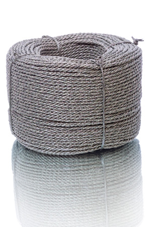 durable: Hank durable nylon cord  isolated on a white background