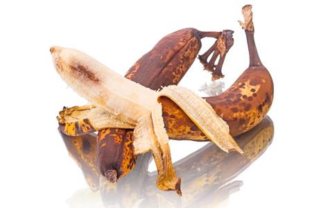 overripe: Overripe bananas isolated on white background