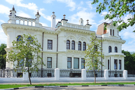 public figure: Tambov, Russian Federation - June 25, 2015: The view from the front of a historical and cultural museum complex Manor Aseev. Before the revolution, the estate belonged to a well-known industrialist, philanthropist and public figure, honorary citizen of th