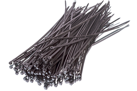 cable tie: Self-locking cable tie, made of plastic nylon.Great for organizing cables for systems, AV equipment and more.