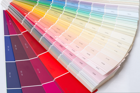 ral: Examples and numbers of colors for color selection in the construction Stock Photo