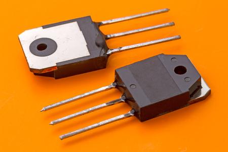 transistor: Power transistor in the SOT199 envelope. Copy space