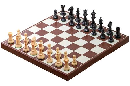 チェス盤の数字です。白い背景に分離 写真素材