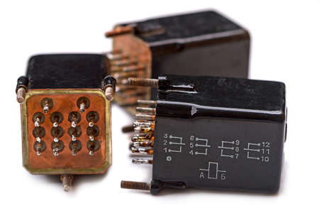 electromagnetic: Sealed electromagnetic relays in a metal housing