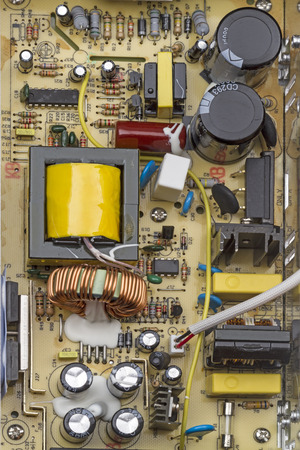 radio unit: Electronic board switching power supply top view