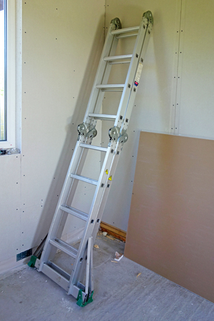 Repair in the room and the metal stepladder transformer