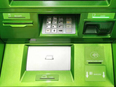 Modern Green ATM cash machine Stockfoto