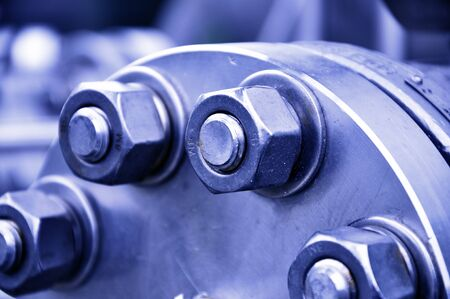 The flanged connection of pipeline Standard-Bild