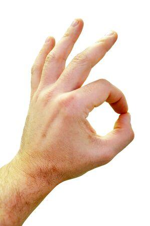 The hand sign Standard-Bild