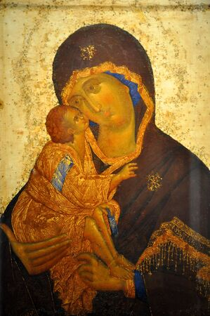 The old orthodox icon in the church