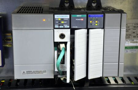 The PLC Industrial computer at work