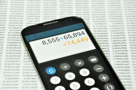 The spreadsheet with finance calculation