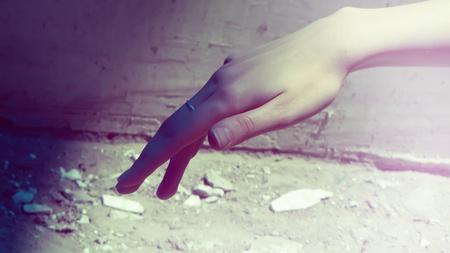 hand, concept desidn cover, art                            photo