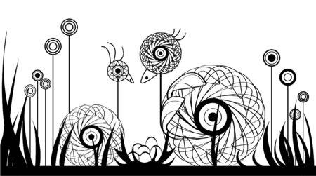 nido de pajaros: familia de patos Vectores