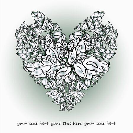 embellishments: vector floral valentine Illustration