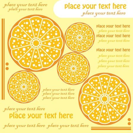 yellow citrus, menu design Vector
