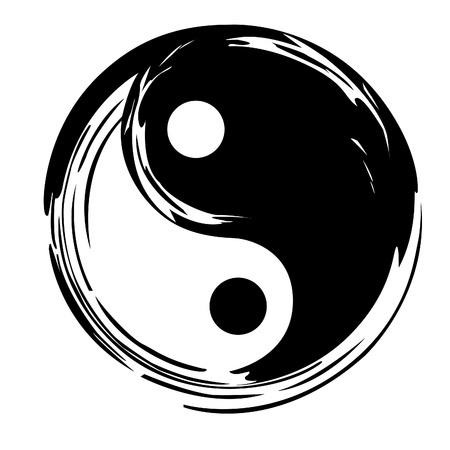 symbole de la paix: yin yang Illustration