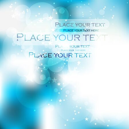 traditional events: vector bright blue christmas background for text with stars