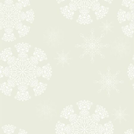 seamless patern on old paper with christmas snowflakes Vector