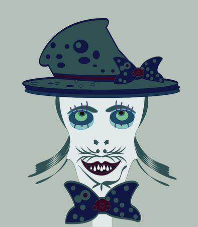 face of skeleton halloween Vector