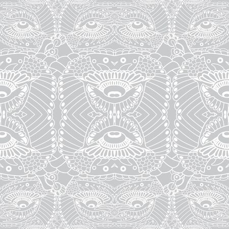 animal eyes: decorative vector pattern seamless