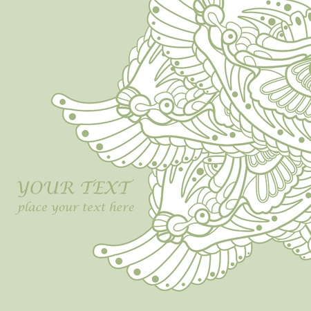 green background for text with dragons Vector