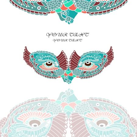 venice carnival: vector background witn venetian mask