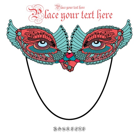 vector carnival mask face, background for text