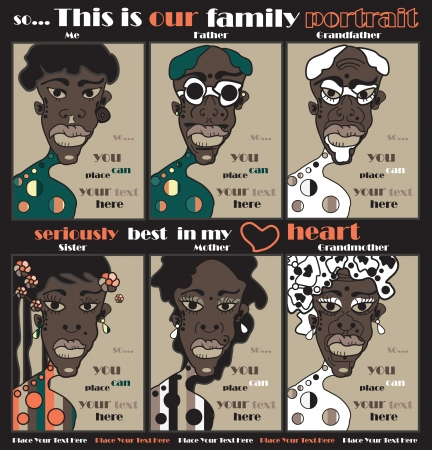 afro girl: family portrait