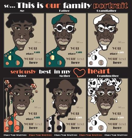 african woman face: ritratto di famiglia