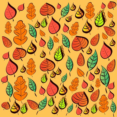 pattern seamless with autumn leaves Illustration