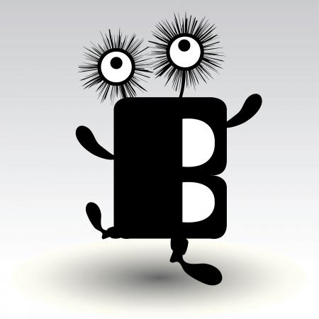 modern dancer: letter b, funny character design