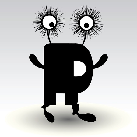 letter r, funny character design Stock Vector - 15884869