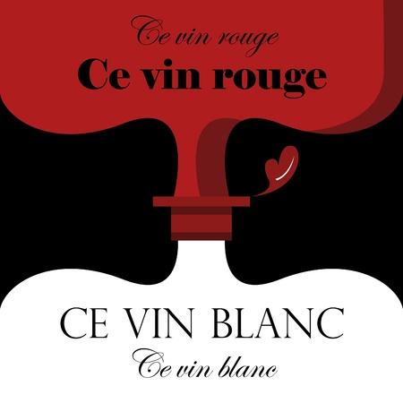 red wine, white wine bottles background design Stock Vector - 16375457