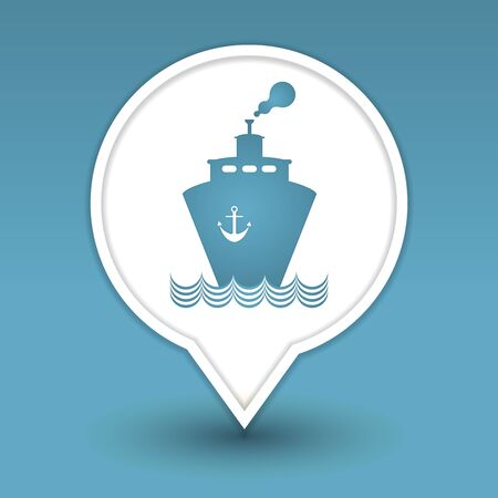 transportation boat web icon design Vector