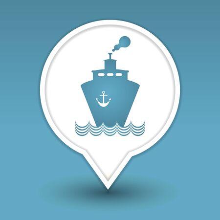 transportation boat web icon design Stock Vector - 18563790