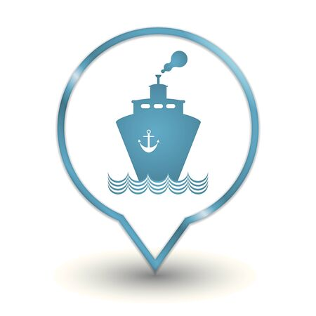 transportation boat, vector web icon