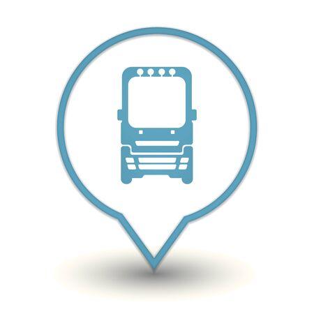 bus web icon Stock Vector - 18909019