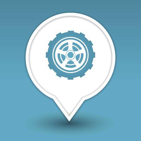 wheel, icon for web Stock Vector - 18909005