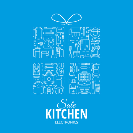 pictogramm: gift box with kitchen appliances