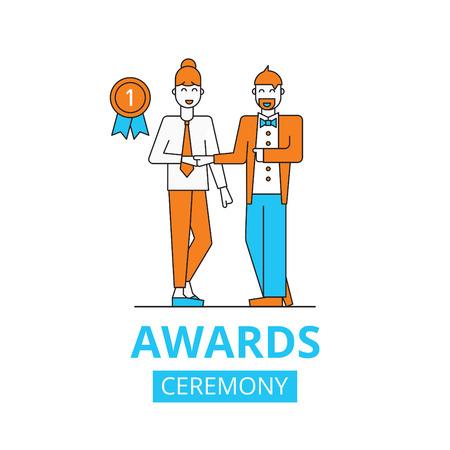 awards ceremony: awards ceremony concept, vector flat illustration