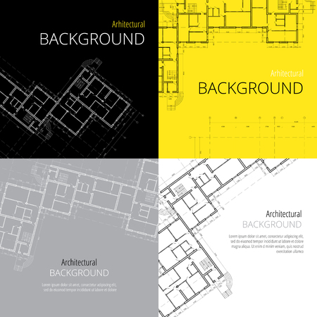 architectural design: architectural backgrounds, vector set Illustration