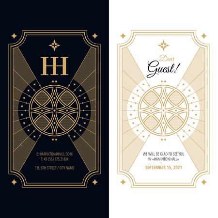 illustration invitation: luxurious invitation design template, vector frame illustration