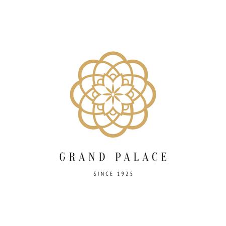 decoratieve bloemen logo voor luxe boutique hotel, bloemenwinkel of spa salon