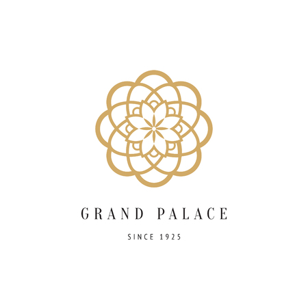 decorative floral logo for luxury boutique, hotel, flower shop or spa salon