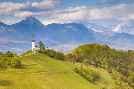 Saints Primus and Felician Church in Jamnik, Slovenia.